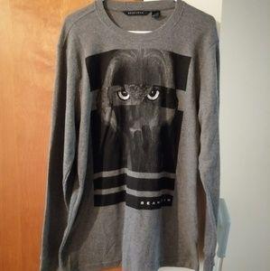 Sean John long sleeve shirt owl print XL grey